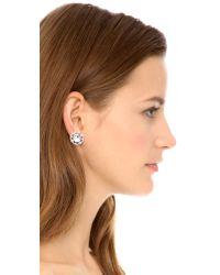 kate spade new york - Metallic Grand Debut Gem Stud Earrings Clear - Lyst