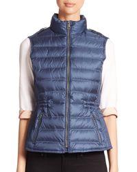 Burberry | Blue Cranstead Puffer Vest | Lyst