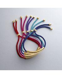 Monica Vinader - Red Esencia Friendship Bracelet - Lyst