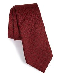 Lanvin - Red Jacquard Silk Tie for Men - Lyst