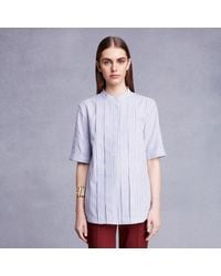 Trademark | Blue Box Pleat Shirt | Lyst