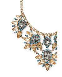 Forever 21 - Metallic Rhinestone Petal Statement Necklace - Lyst
