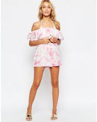 ASOS | Pink Tie Dye Beach Short Co-ord | Lyst
