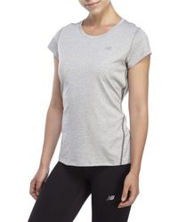 New Balance | Gray Heathered Performance Tee for Men | Lyst