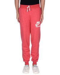 Nike - Red Casual Trouser for Men - Lyst