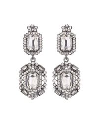 Mikey - Black Diamond Shape Crystal Clip On - Lyst