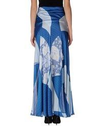 Emilio Pucci   Blue Long Skirt   Lyst