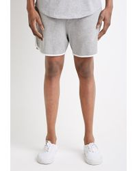 Forever 21 - Gray Contrast-trimmed Drawstring Sweatshorts You've Been Added To The Waitlist for Men - Lyst