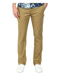 Volcom | Natural Frickin Slim Canvas Pants for Men | Lyst