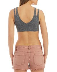 Free People | Gray Silent River Crop Bralette | Lyst