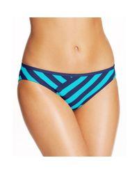 DKNY | Purple Striped Bikini Bottom | Lyst
