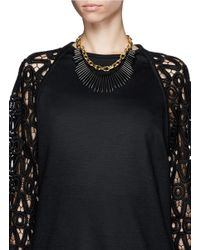 Kenneth Jay Lane | Metallic Spike Chain Necklace | Lyst