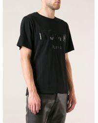 MSGM - Blue Logo Print Tshirt for Men - Lyst