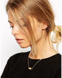 ASOS | Metallic Limited Edition Gold Plated Brass Working Lock & Key Necklace | Lyst
