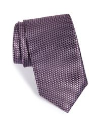 JZ Richards | Purple Geometric Woven Silk Tie for Men | Lyst