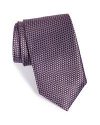 JZ Richards - Purple Geometric Woven Silk Tie for Men - Lyst