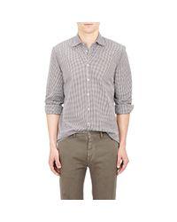 Massimo Alba - Gray Men's Gingham Shirt for Men - Lyst