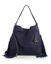 Diane von Furstenberg - Blue Voyage Boho Fringed Suede Shoulder Bag - Lyst