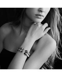 David Yurman - Black Cable Classics Bracelet With Gold - Lyst