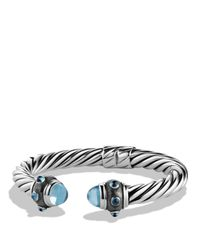 David Yurman | Metallic Renaissance Bracelet With Blue Topaz And Hampton Blue Topaz | Lyst