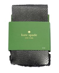 Kate Spade | Black Sparkle Fish Net Tights | Lyst