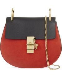 Chloé | Red Drew Small Saddle Cross-Body Bag | Lyst