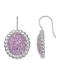 Slane - Nuage Pavé Pink Sapphire Earrings - Lyst
