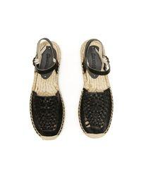 Soludos - Black Leather Platform Huarache Sandal - Lyst