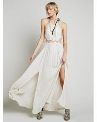Free People | White Endless Summer Womens Dare To Bare Maxi | Lyst