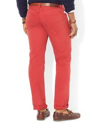 Ralph Lauren - Red Polo Straight 5-Pocket Chino Pant - Classic Fit for Men - Lyst