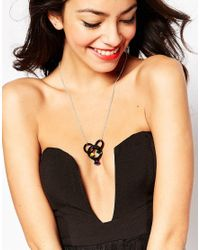 Tatty Devine - Black Cocktail Ring Necklace - Lyst