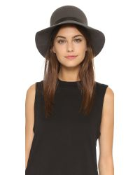 Rag & Bone - Gray Faye Cloche Hat - Lyst