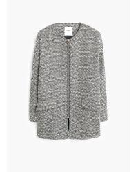 Mango | Gray Bouclé Coat | Lyst