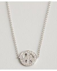 KC Designs - Metallic White Gold And Diamond Peace Sign Charm Bracelet - Lyst