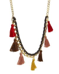 ASOS | Red Limited Edition Tassel Necklace | Lyst
