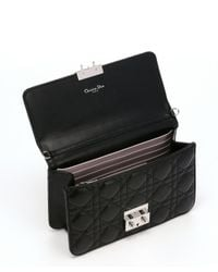 Dior - Black Cannage Leather 'miss Dior' Flap Front Shoulder Bag - Lyst