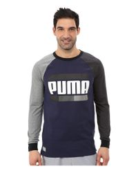 PUMA | Gray Blocked Raglan for Men | Lyst