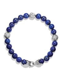 David Yurman - Blue Spiritual Beads Bracelet With Lapis Lazuli for Men - Lyst