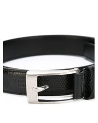 Saint Laurent   Black Textured Belt for Men   Lyst