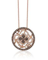 Le Vian | Metallic Chocolatier Chocolate Diamond, Vanilla Diamond And 14k Strawberry Gold Intricate Pendant Necklace | Lyst