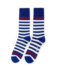 Falke - Red Maritime Stripe Crew Socks for Men - Lyst