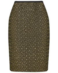 Almost Famous | Green Metallic Pencil Skirt | Lyst