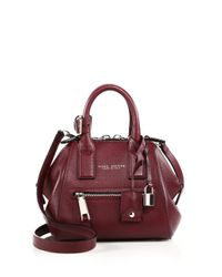 Marc Jacobs - Purple Incognito Mini Textured Leather Top-handle Bag - Lyst