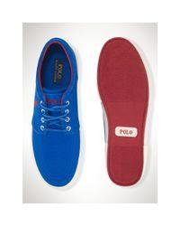 Polo Ralph Lauren   Blue Twill Faxon Low Sneaker for Men   Lyst
