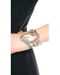 Alexis Bittar - Metallic Vine Draped Cuff Bracelet - Clear - Lyst