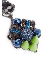 Assad Mounser - Blue Neon Spike Crystal Drop Earrings - Lyst