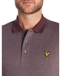 Lyle & Scott | Purple Herringbone Polo Shirt for Men | Lyst