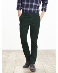 Banana Republic | Green Aiden Slim Flannel-lined Chino for Men | Lyst