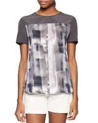 Calvin Klein Jeans | Gray Printed Tee | Lyst