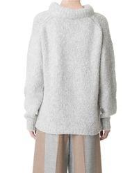 Tibi - Gray Bubble Pullover - Lyst